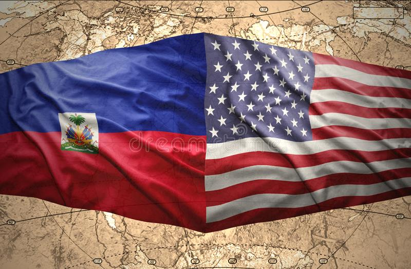 Haiti And United States Of America Stock Illustration Illustration
