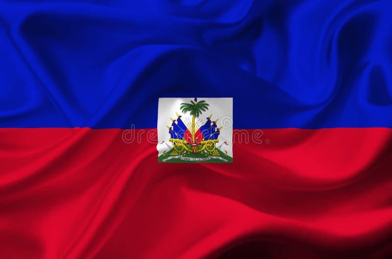 Haiti vinkande flagga royaltyfri illustrationer