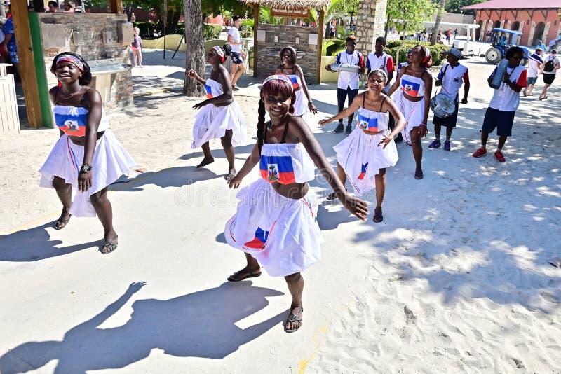 Haitian dancers royalty free stock photo