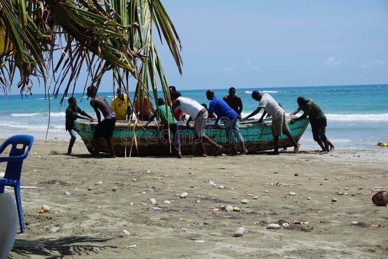 Haitier fiskeb?t royaltyfria foton