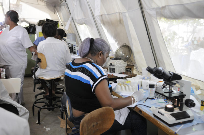 Haitiert sjukhus. royaltyfria bilder