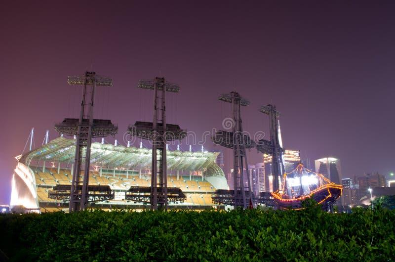 Haixinsha Asian Games Park at night. royalty free stock photography