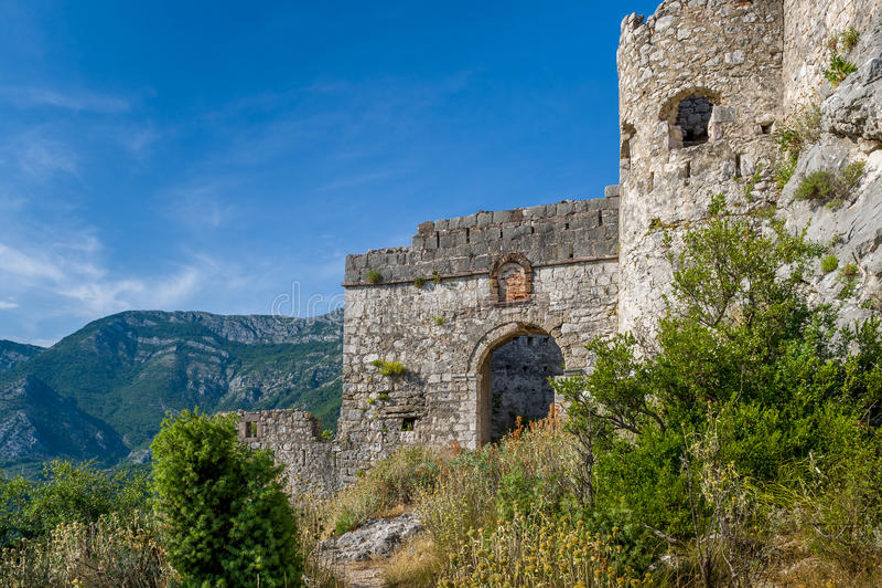 Haj-Nehaj城堡入口方式 库存照片