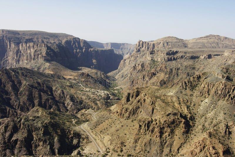 hajar山西部的阿曼 库存照片