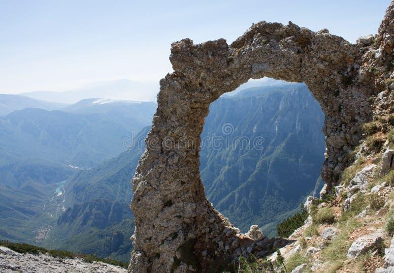 Hajducka Vrata on the Cvrsnica mountain. Hajducka Vrata are on Cvrsnica mountain, above canyion Diva Grabovica. Hajducka Vrata located near Jablanica, Mostar and stock photo