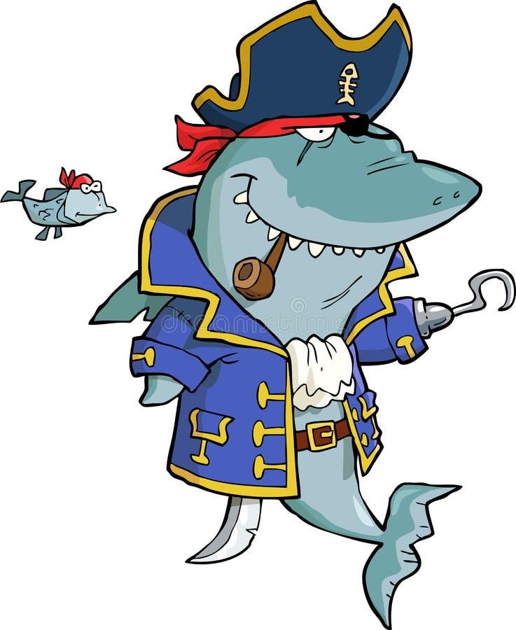 Hajen piratkopierar vektor illustrationer