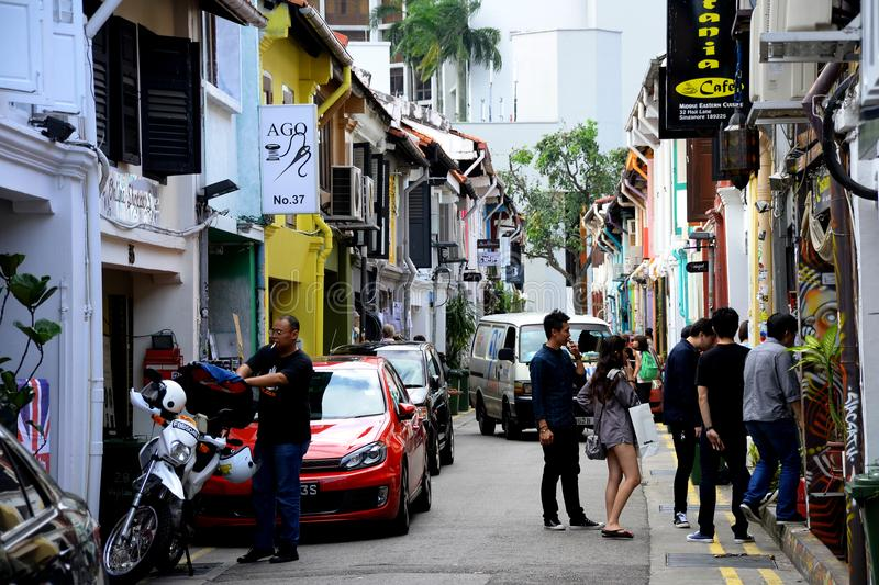 Haji Lane royaltyfri foto