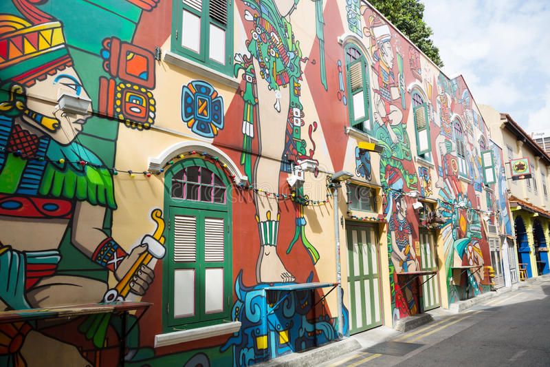 Haji Lane is the Kampong Glam, Singapore stock photo