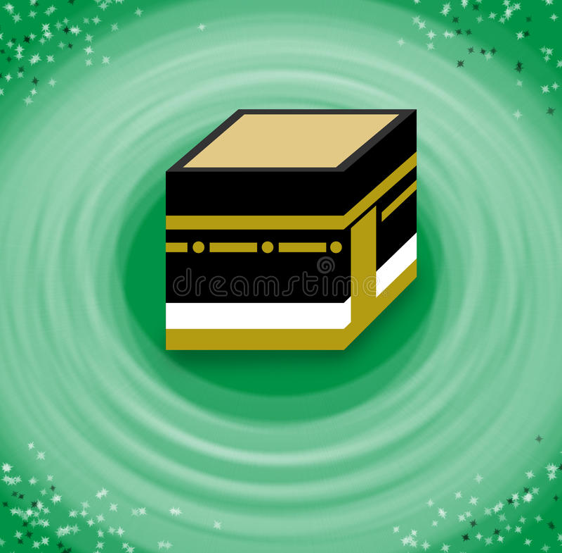 Hajj Circumambulation av Kaabaen stock illustrationer