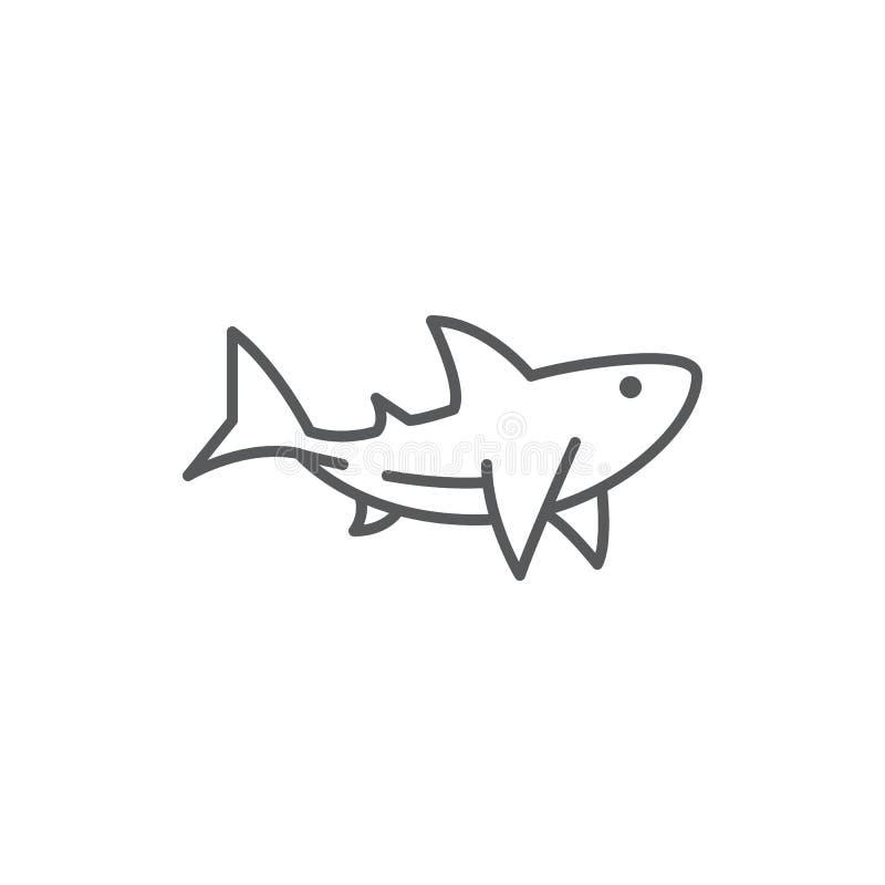 Hajlinje perfekt symbol för redigerbart PIXEL på vit bakgrund royaltyfri illustrationer