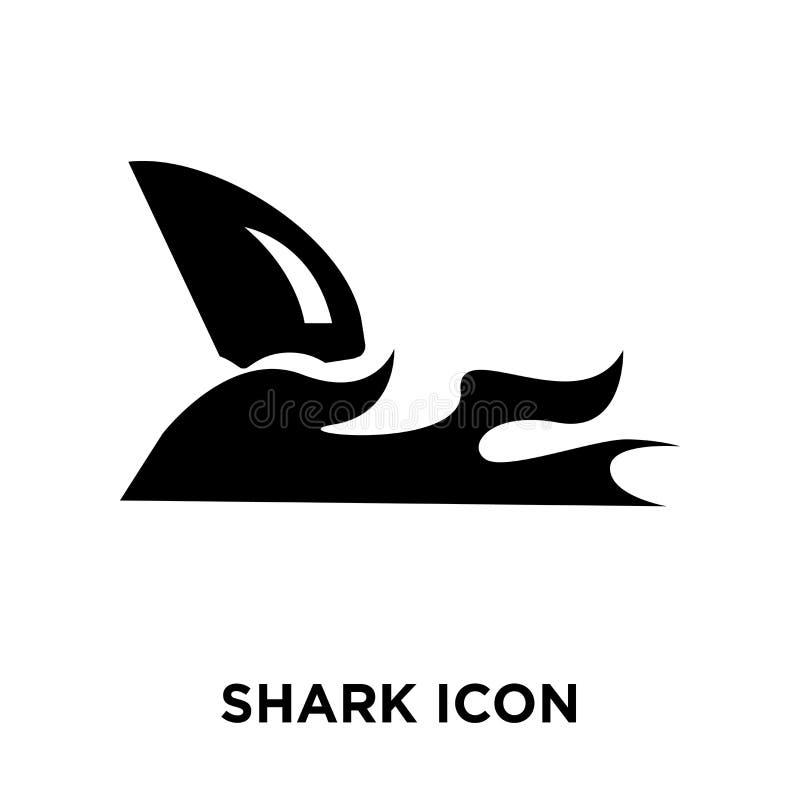 Hajsymbolsvektor som isoleras på vit bakgrund, logobegrepp av vektor illustrationer