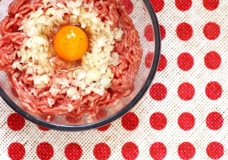 Hak koteletteningrediënten fijn stock foto's