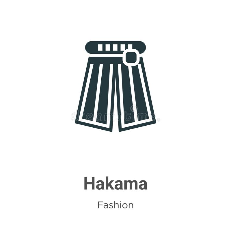 Asian Architecture Logo Icon Linear Style: Hakama Icon Vector Isolated On White Background, Hakama