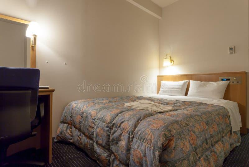 Hakata绿色旅馆2,旅馆,福冈县,九州,日本客房  免版税图库摄影