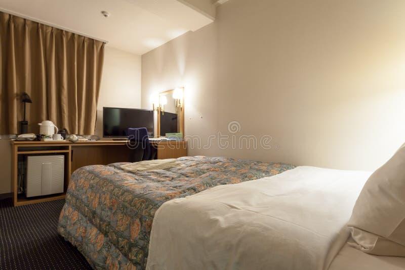 Hakata绿色旅馆2,福冈县,九州,日本客房  免版税库存照片