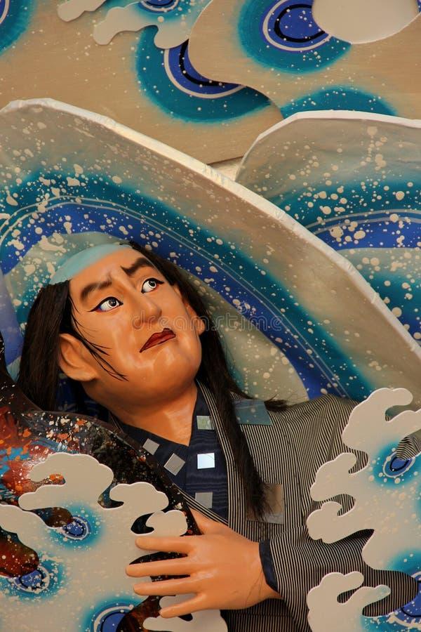 Hakata Gion Festival Float. Detail of the Hakata Gion Festival Float at the Kushida Shrine in Fukuoka, Japan stock images