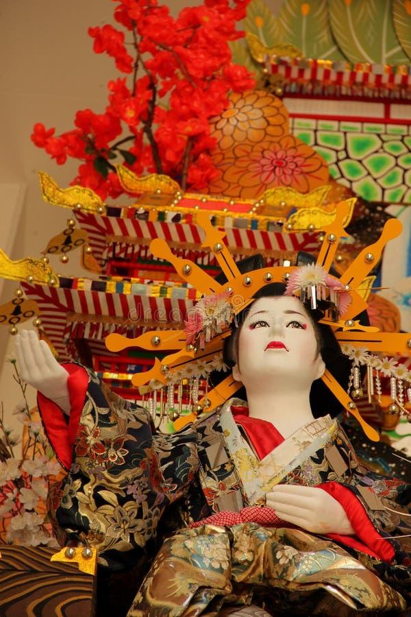 Hakata Gion Festival Float. Detail of the large Hakata Gion Festival Float at the Kushida Shrine in Fukuoka, Japan stock images