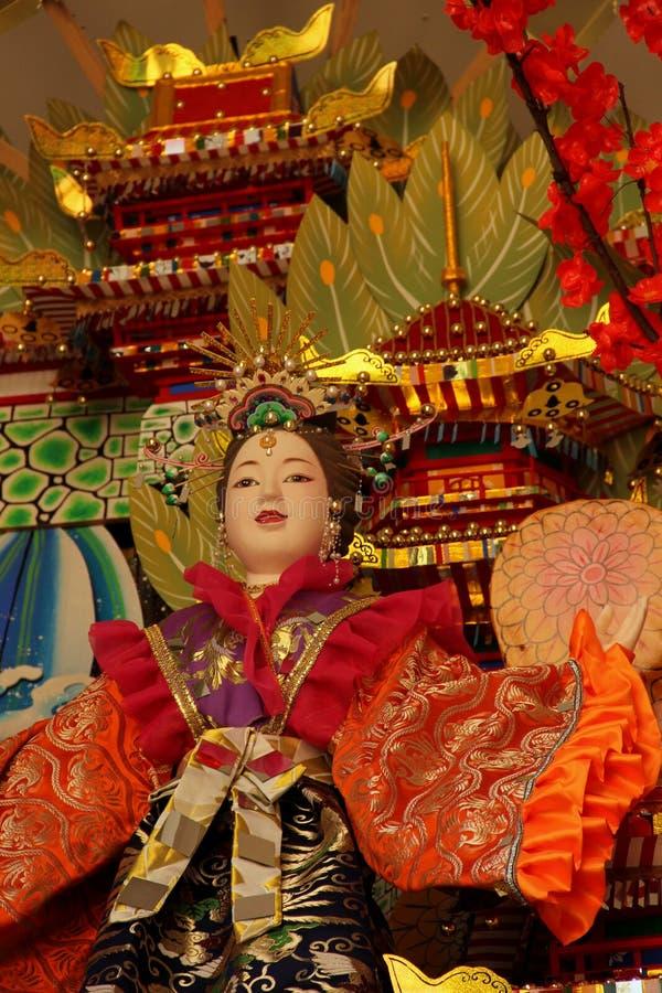Hakata Gion Festival Float. Detail of the large Hakata Gion Festival Float at the Kushida Shrine in Fukuoka, Japan stock photography