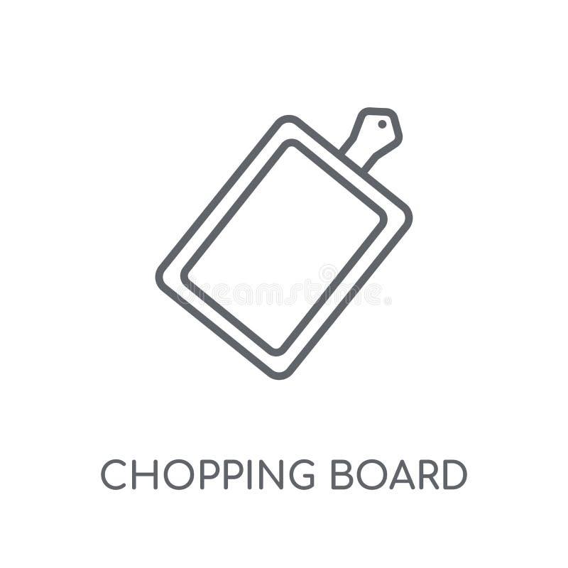 Hakbord lineair pictogram Het moderne embleem c van het overzichts hakbord vector illustratie