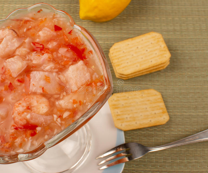 Download Hake ceviche stock image. Image of mixed, lemon, hake - 17095305