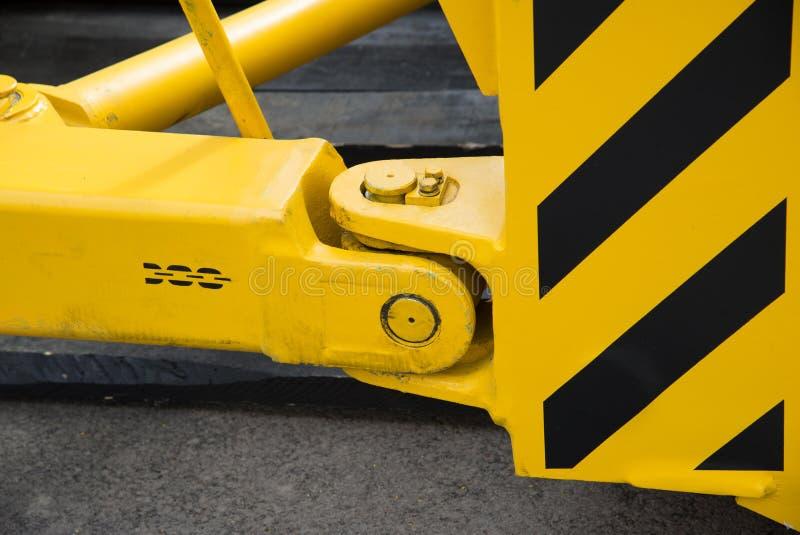 Hake med släpstången av den nya traktoren royaltyfria foton