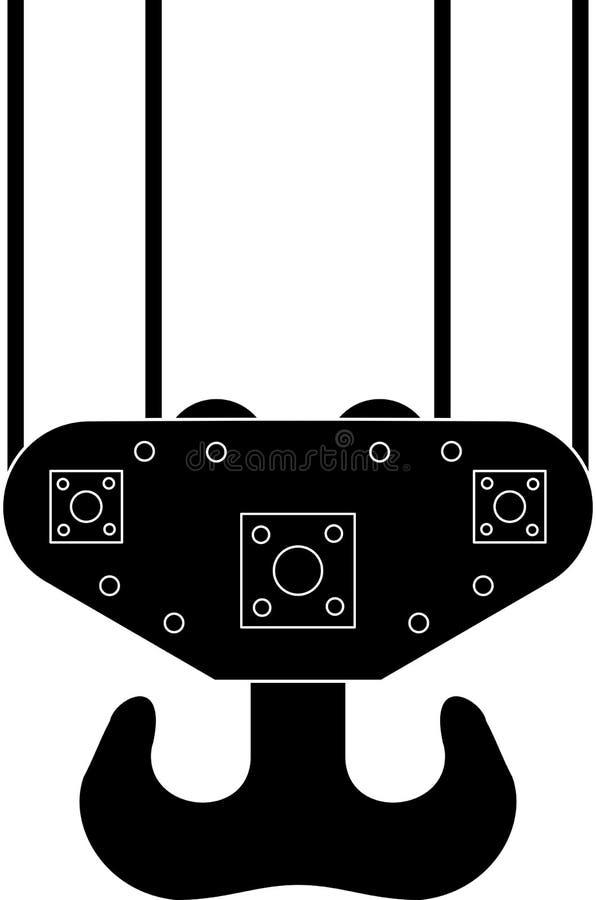 Haken eines Seehafenkranes (Hebemaschine) lizenzfreies stockfoto