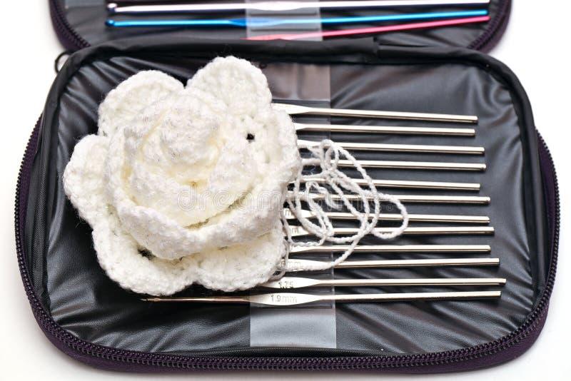 Haken voor het breien stock afbeeldingen