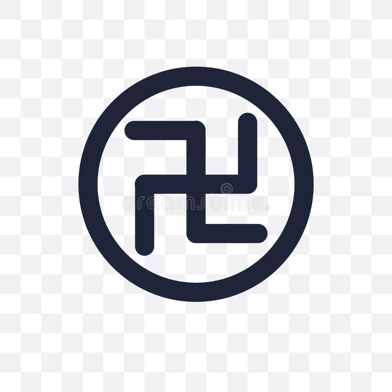 Hakenkruis transparant pictogram Het ontwerp van het hakenkruissymbool van Godsdienst stock illustratie
