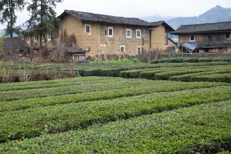 Hakka tulou gelegen in Fujian, Porzellan lizenzfreie stockfotos