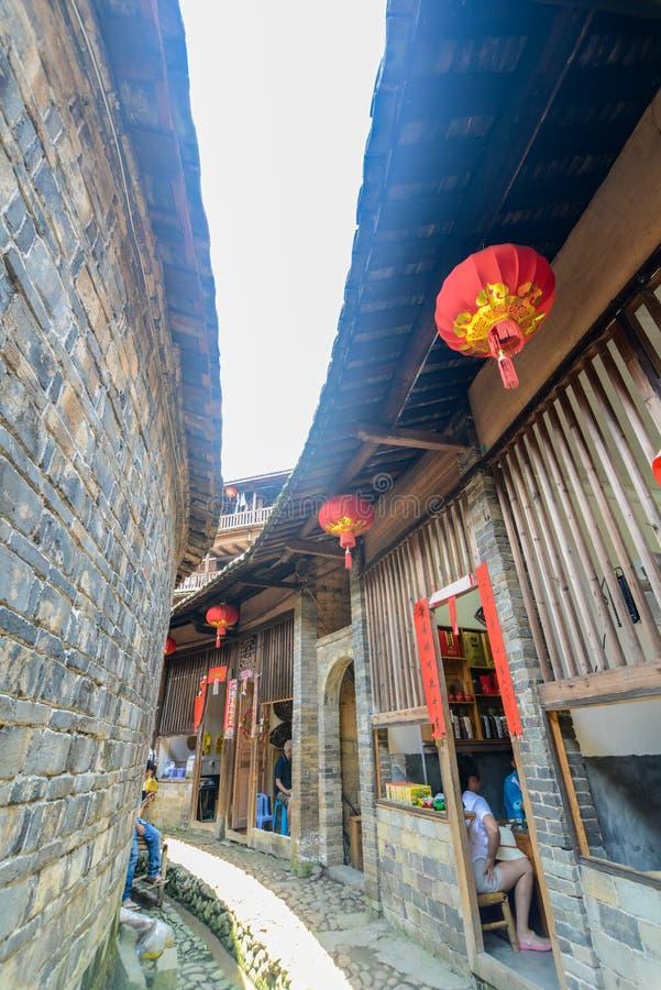 Hakka Tulou tradycyjni chińskie budynek mieszkalny w Fujian prowinci Chiny fotografia stock