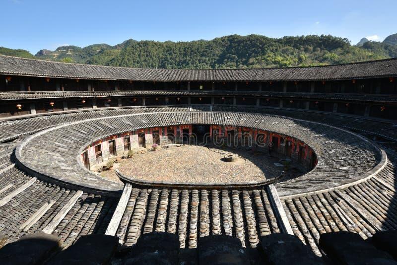 Download HakkaRoundhousetulouen Walled Byn, Meizhou, Kina Redaktionell Arkivbild - Bild av smutsa, östligt: 106826947