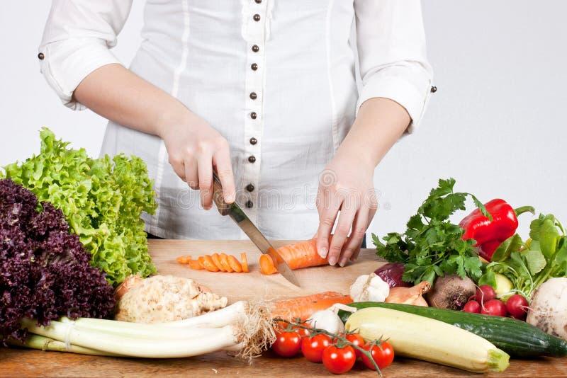 Hakkende groente stock foto's