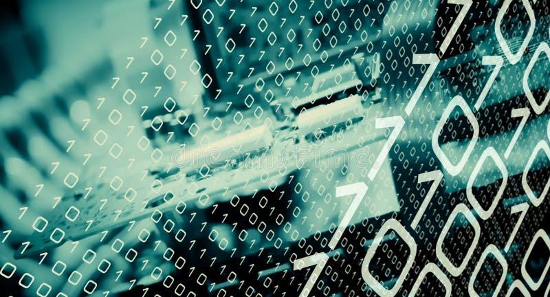 Hakker cyber aanval, gebroken technologie vector illustratie