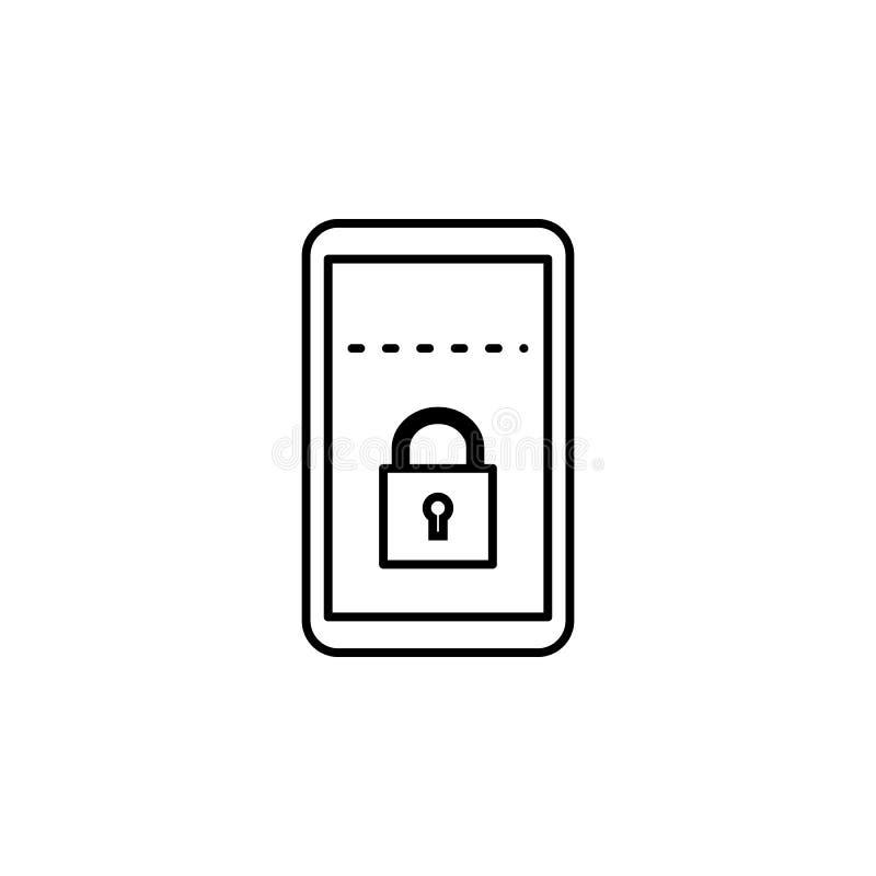 Hakker, mobiel pictogram op witte achtergrond Kan voor Web, embleem, mobiele toepassing, UI UX worden gebruikt royalty-vrije illustratie