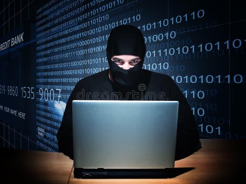 Hakker op plicht royalty-vrije stock foto's