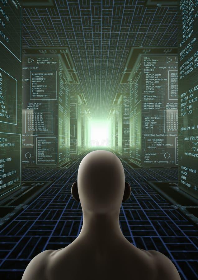 Hakkerwereld stock illustratie