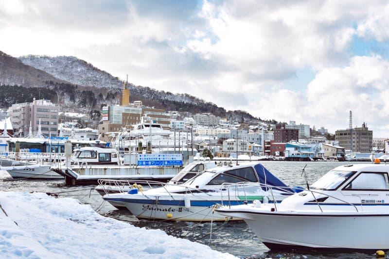 Hakodate-Bucht in Hokkaido, Japan lizenzfreies stockfoto