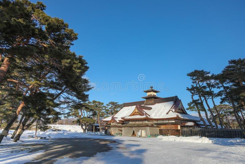 Hakodate, fort Goryokaku en hiver, Japon photographie stock libre de droits