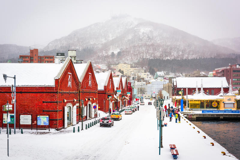 Hakodate Japan at the Red Brick Warehouse District stock photography