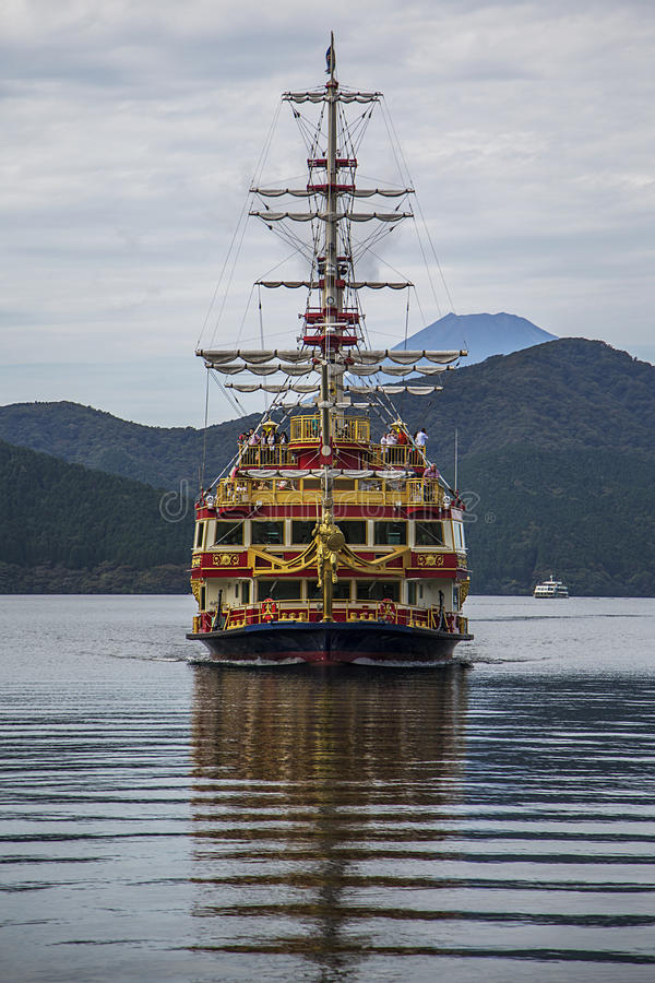 Hakone, jeziorny Ashi obraz stock
