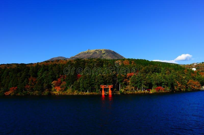 Hakone lake royalty free stock photo
