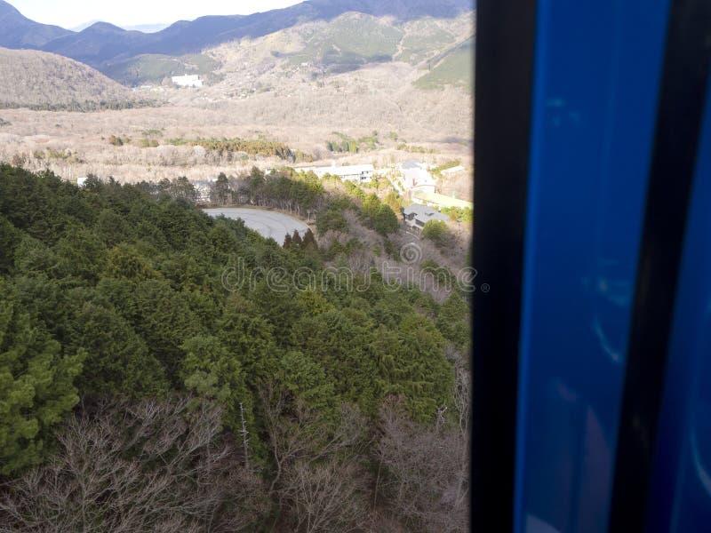Hakone w Japonia Owakudani jest geotermicznym doliną z aktywnymi siarek wentylacjami i gorącymi wiosnami w Hakone zdjęcie stock