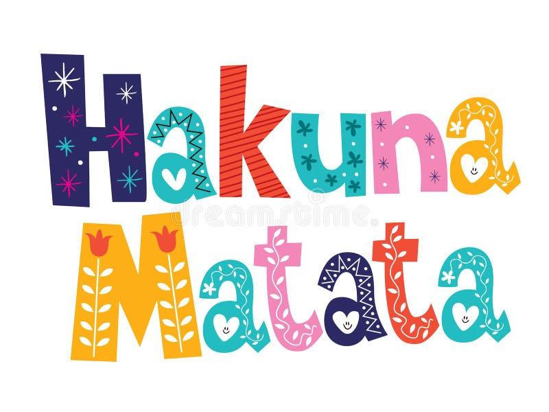Hakuna Matata ilustracja wektor