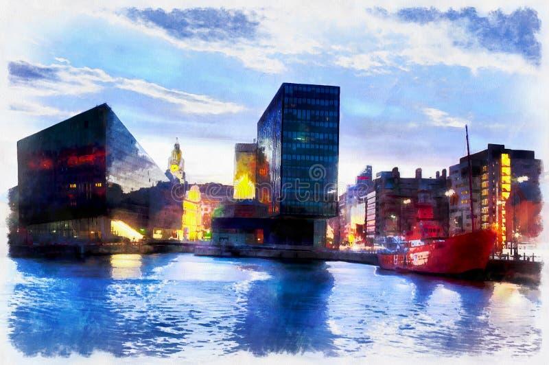Halètement coloré des bâtiments modernes de ville images libres de droits