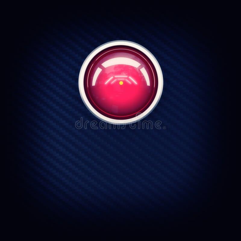 Download Hal红色的眼睛 库存例证. 插画 包括有 眼睛, 火炮, 红色, 设备, 纤维, 智能, 远期, 电影 - 30338982