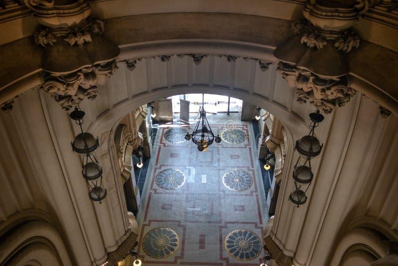 Hal in Hel van Barolo-Paleis wordt geïnspireerd - Buenos aires, Argentinië dat royalty-vrije stock fotografie