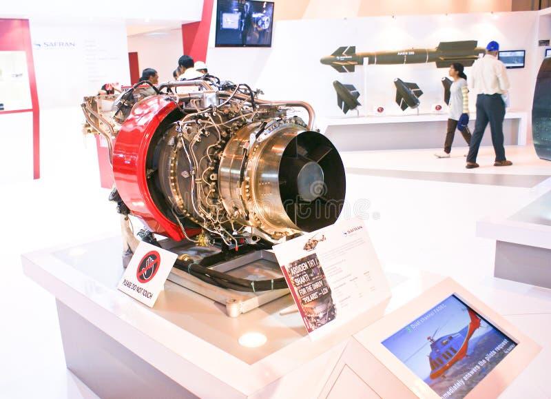 HAL/Turbomeca Shakti Engine en la exhibición en la aero- demostración 2013 de la India imagen de archivo libre de regalías
