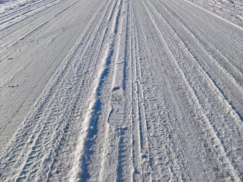 Hal väg för snö arkivfoto