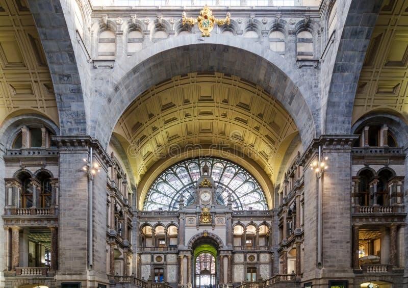 Hal van de Centrale post van Antwerpen royalty-vrije stock fotografie