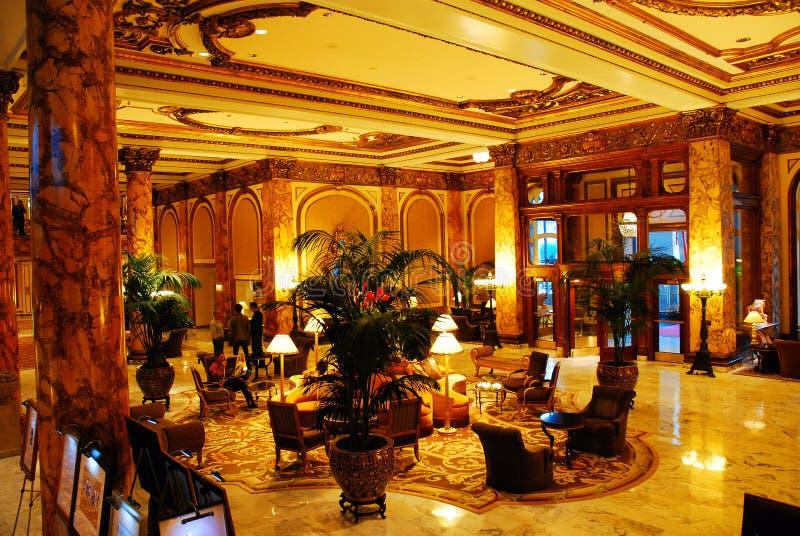Hal van het Fairmont-Hotel, San Francisco royalty-vrije stock afbeeldingen